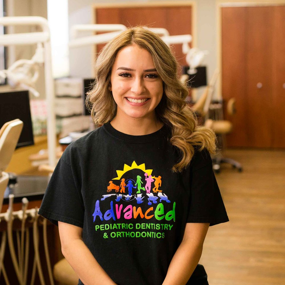Marisol - Receptionist - Hello. My name is Marisol and I was born and raised in the heart of Pasco. I joined the Advanced Pediatric Dentistry & Orthodontic team in March of 2018. As a receptionist, my goal is to greet with a smile and help you and your child have the best experience possible as soon as you walk in. There's nothing better than seeing happy parents and happy children! Outside of work I enjoy traveling, doing any kind of outdoor activities and spending time with my friends and family.