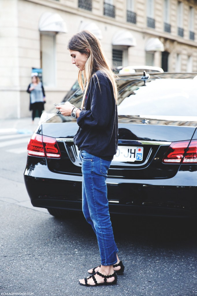 Paris_Fashion_Week_Spring_Summer_15-PFW-Street_Style-Basic_Outfit-Jeans_Ralph_Lauren_Shirt-