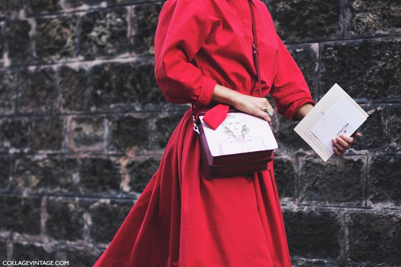 Paris_Fashion_Week_Spring_Summer_15-PFW-Street_Style-Red_Dress-Prada-