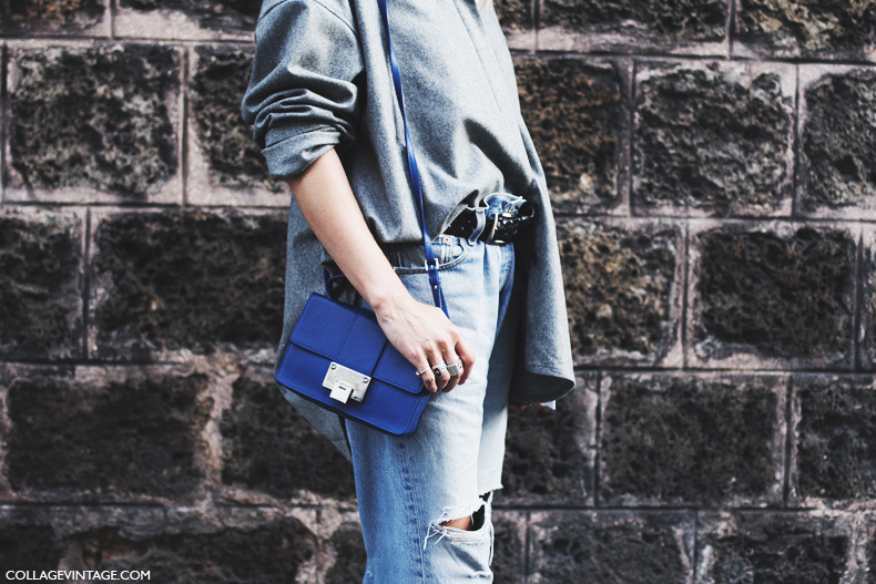 Paris_Fashion_Week_Spring_Summer_15-PFW-Street_Style-Ripped_Jeans-GRey_Top-Electric_Blue-
