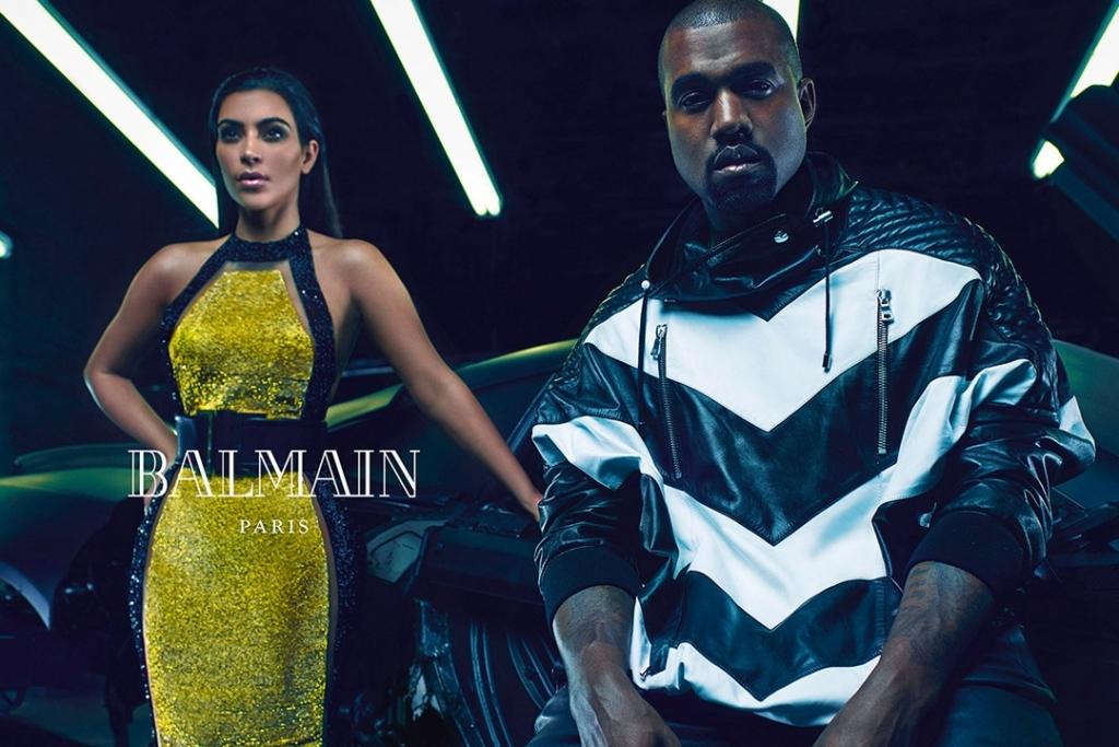 Kim Kardashian Kanye West Balmain Campaign Stylesnooperdan