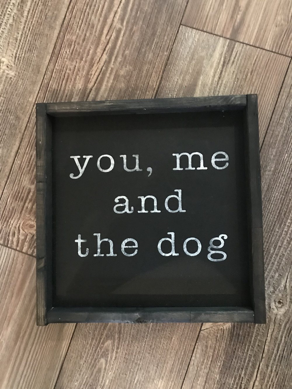 """12x12 can be customized with colour and pluralized to """"dogs""""  $35"""