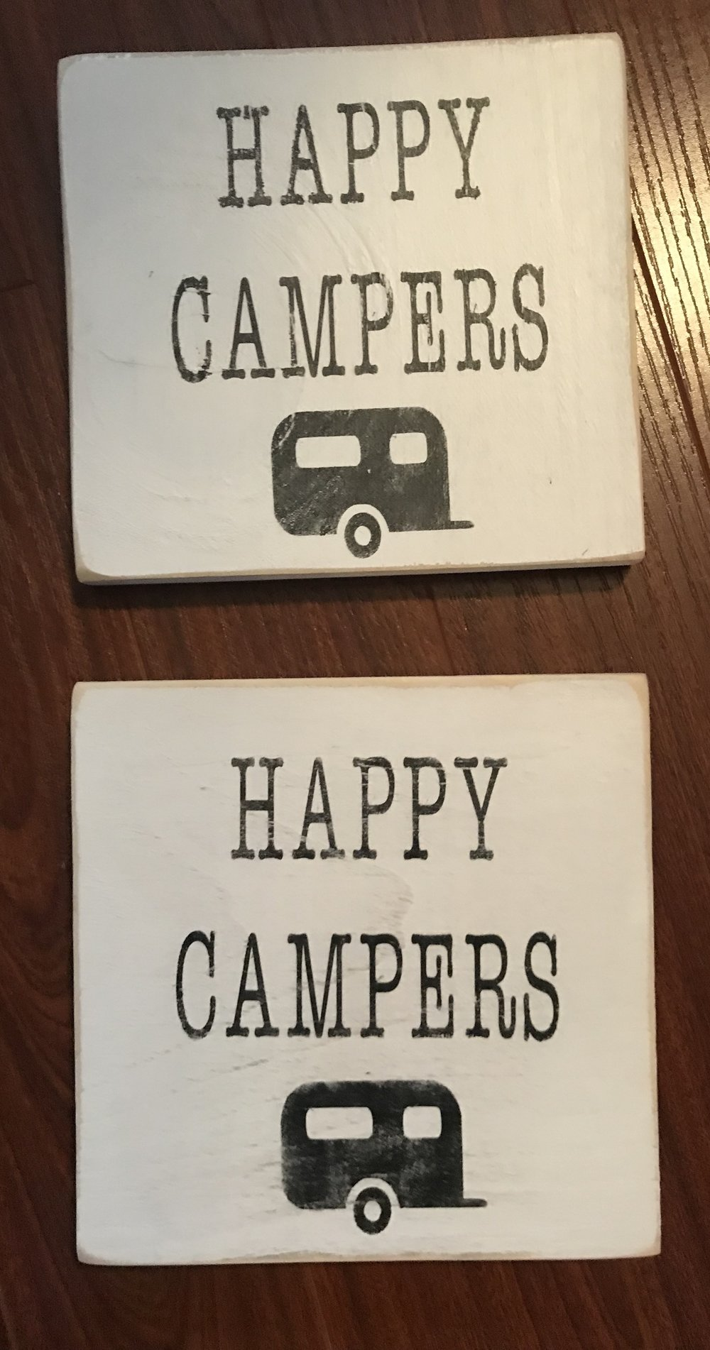HAPPY CAMPERS! 7X7 UV AND WEATHER PROTECTED $10 EACH