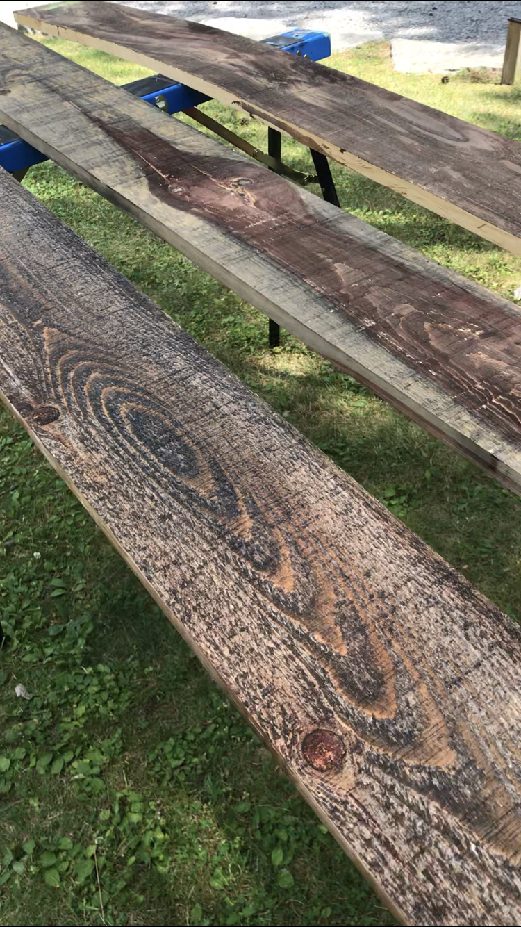 "Can you see the ""loon"" that I mention in the middle piece of wood?  Isn't it amazing?"