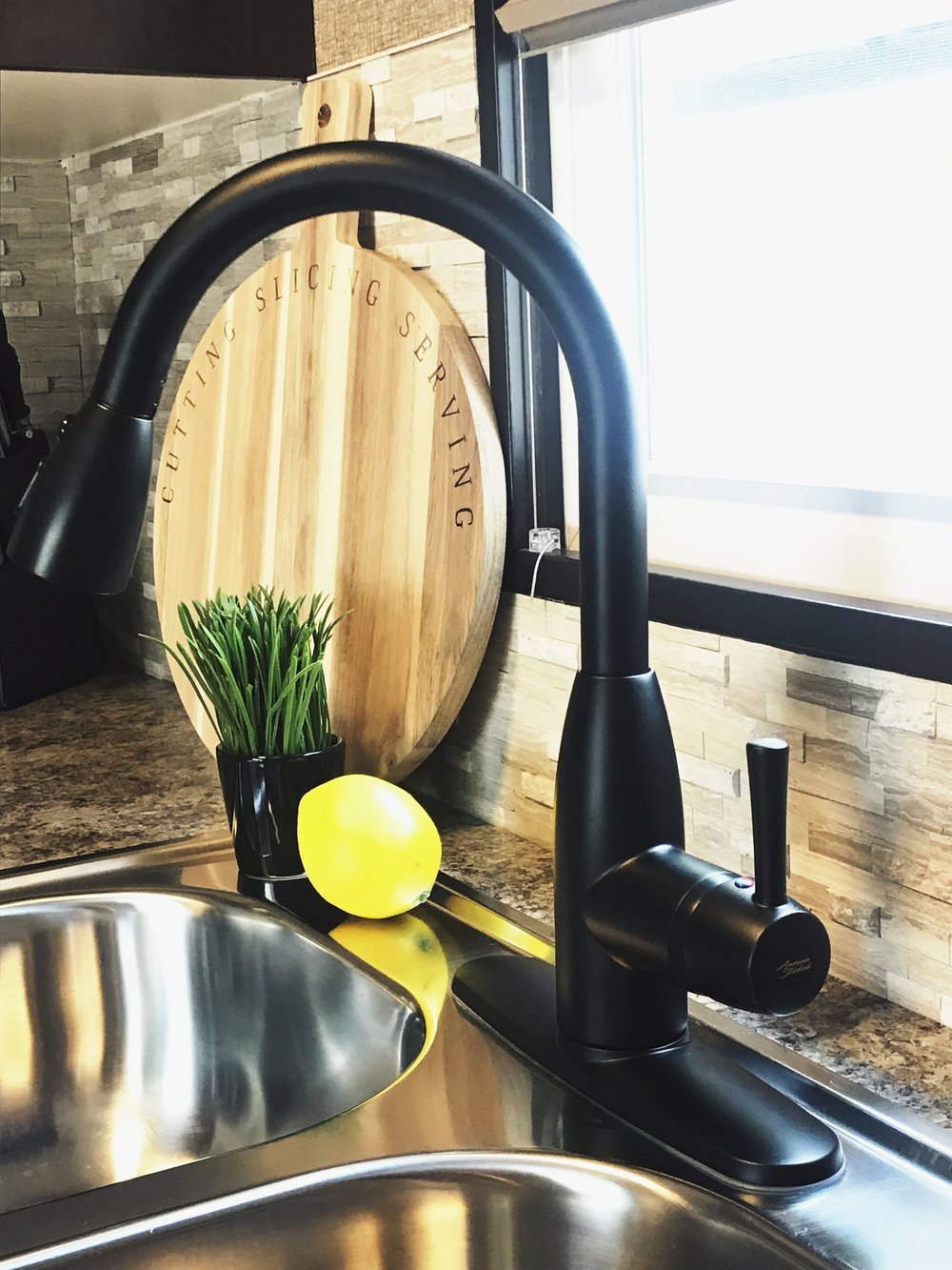 American Standard Fairbury Faucet in a matter black finish