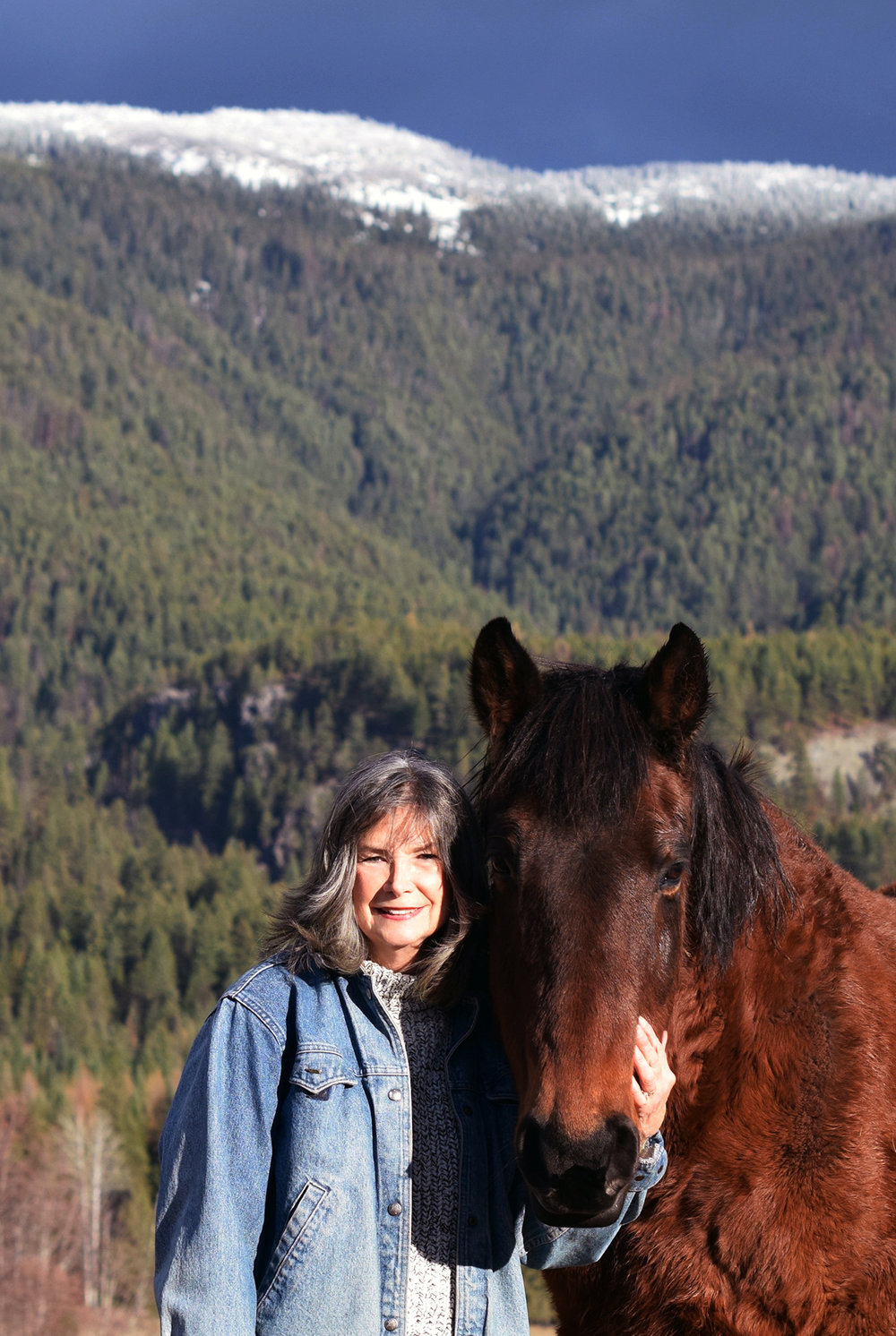 <p>Delia on her ranch in Idaho. Photo: Mark J. Owens.</p>