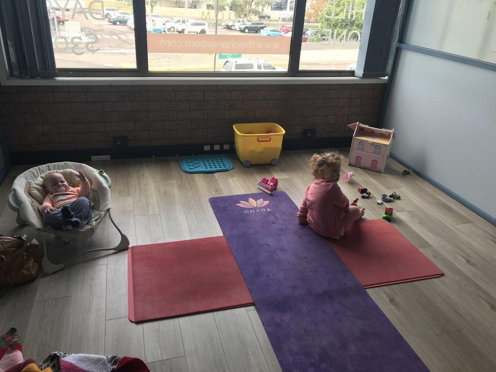 Summer and Lillian are regulars at my Family Yoga Studio The Ohana Room, Cardiff