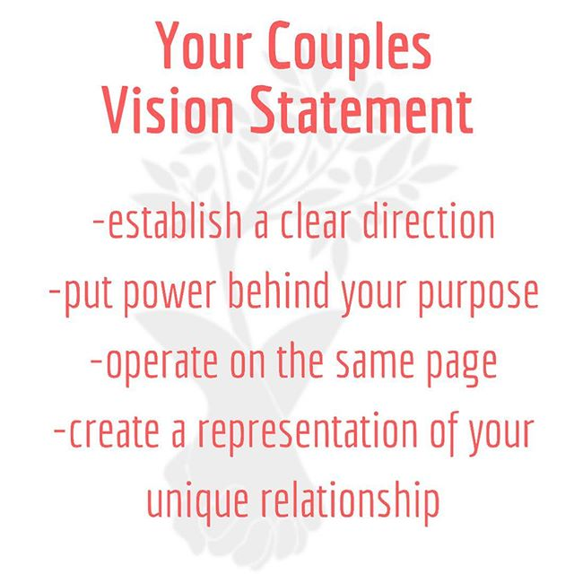 "It's March and we would love to create with you and your partner your very own Couples Vision Statement. • This free one hour process taps into your aligned values as parents and sets intentions on how you desire to live and what you plan to attract into your family unit. • Just like the saying, ""check your gut feeling"" a Vision Statement is a living document you both can refer back to when you have a big decision, your at an impasse or you want to find more balance in your life. • If you're ready to take the first step to unlocking even more of your potential, and designing the legacy you're building together, send us a DM to get started."
