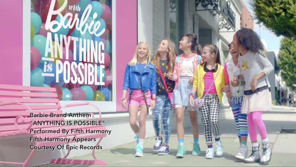 BARBIE BRAND ANTHEM MUSIC VIDEO with FIFTH HARMONY — SUSAN BLOOM