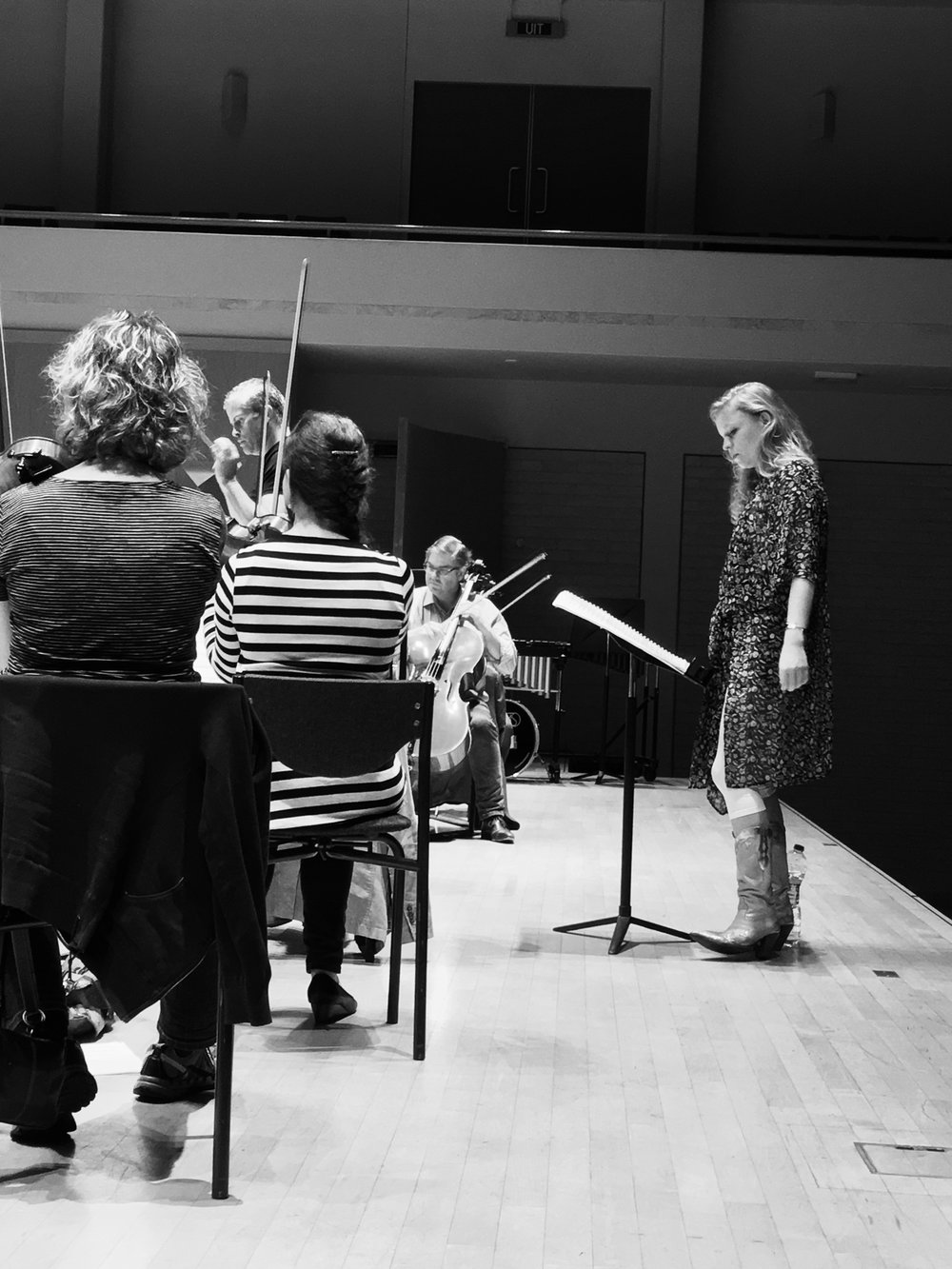Image: Charody in rehearsal with The Netherlands Symphony Orchestra in June 2016.