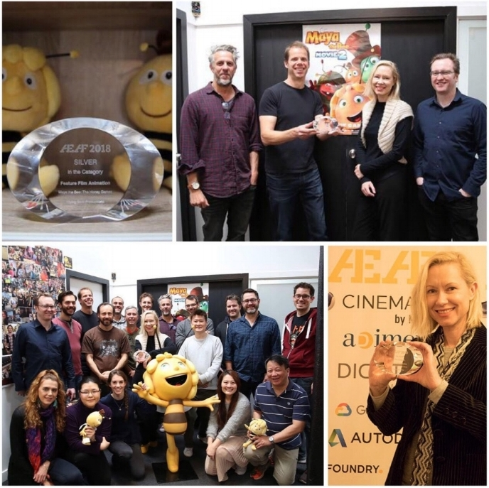 Maya The Bee: The Honey Games picks up Silver at the 2018 AEAF Awards!