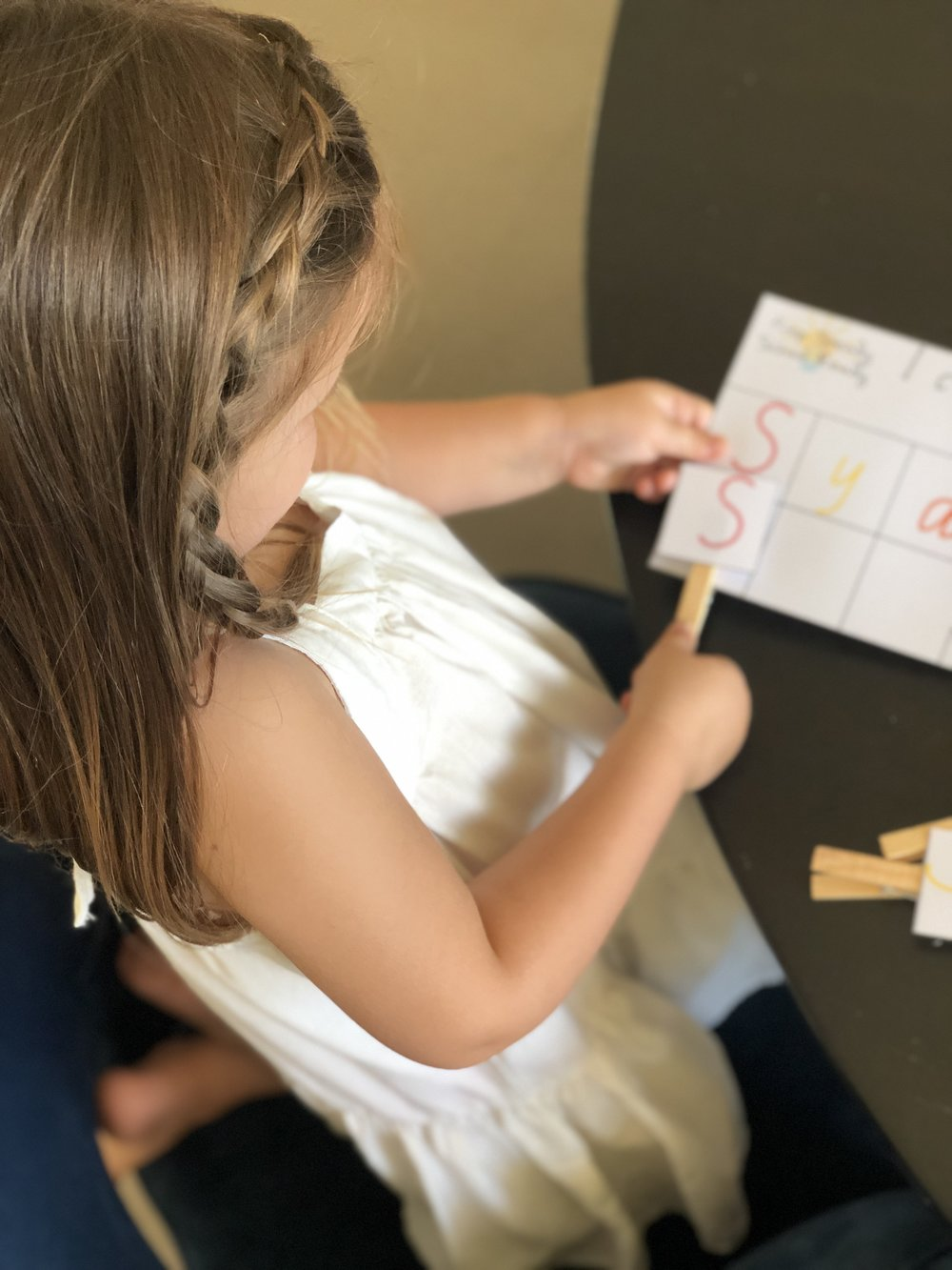 This peg activity is so great for developing those fine motor skills.