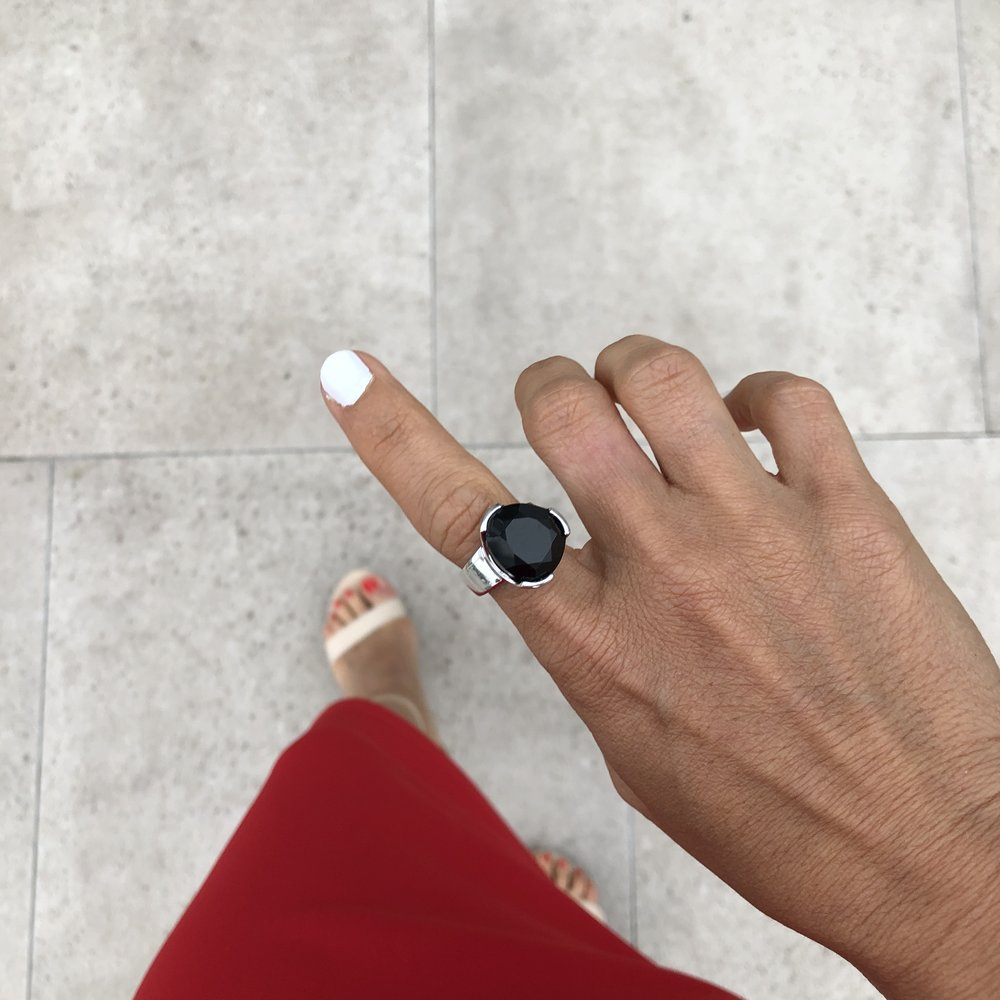Uberkate's Black Agate cocktail ring. I have been wearing it everywhere!
