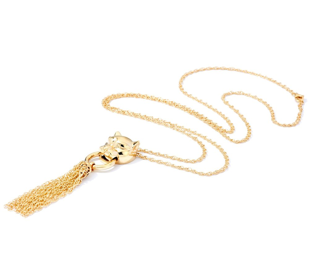 Sterling Panther Tassel Necklace, QVC, $34.99