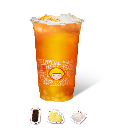 Pineapple Flavor Black Tea with QQ Jelly