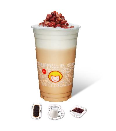 Fresh Milk Tea with Azuki Bean