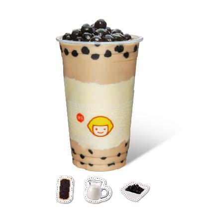 Fresh Milk Tea with Pearl Sago