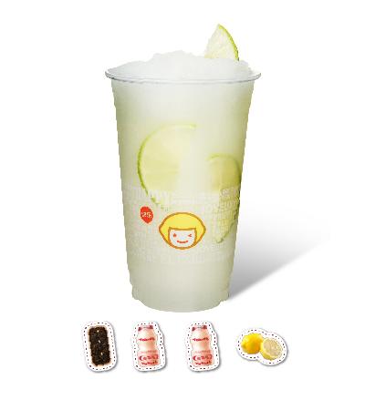 Lemon Green Tea with 2 Bottles of Yakult