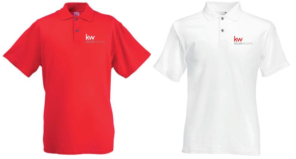 Polos Blancos y Rojos en tallas S, M, L y XL, para hombres y mujeres