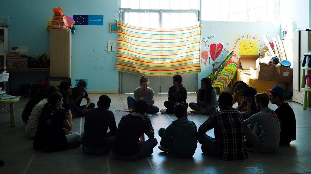 Daphne facilitates a YU workshop