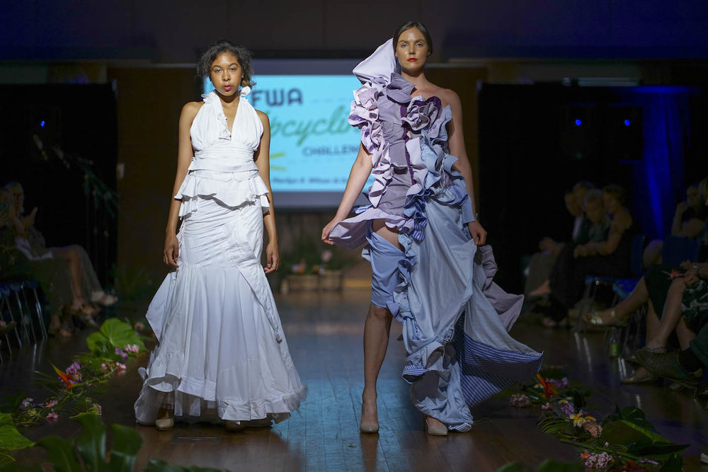 13 designers took part in re-purposing men's shirts in the second annual EFWA Upcycling Challenge by Marilyn Wilson (Photo: Port Douglas Photographer)