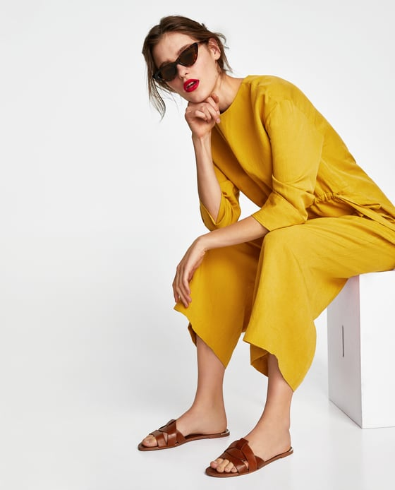 Zara  Crossover Leather Sandals £25.99