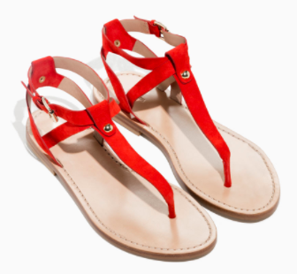 And Other Stories  Suede Thong Sandals £55