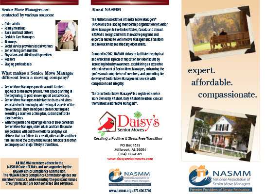 DAISY'S SENIOR MOVES BROCHURE - SHARE WITH FAMILY