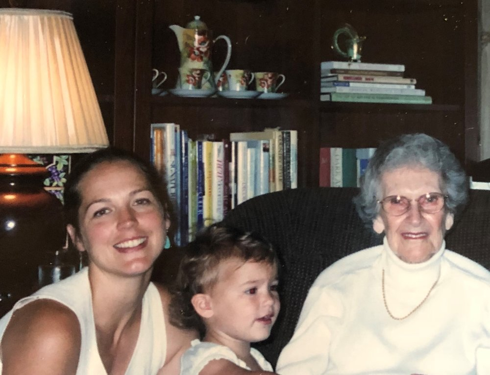My Grandmother, Daisy - Pictured (L-R) Me (Julia), my daughter, and Grandmother Daisy