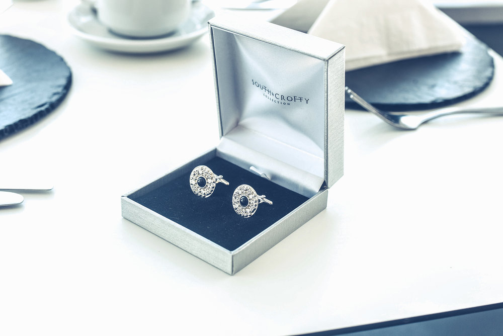 Silver cufflinks wedding