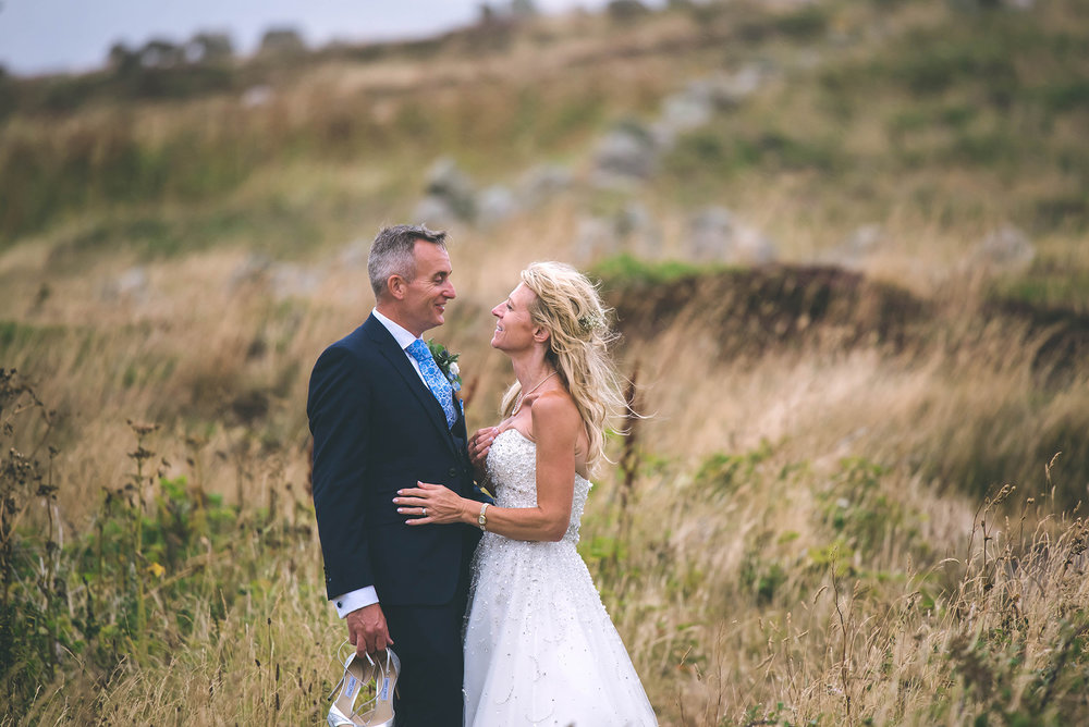 Wedding couple field soft focus