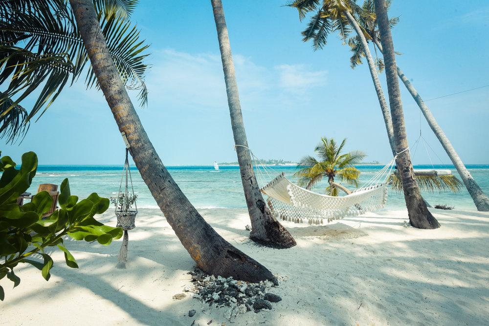 Maldives luxury resort hammock