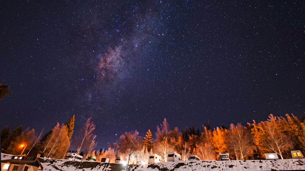 sky star scape in camping ground New Zealand