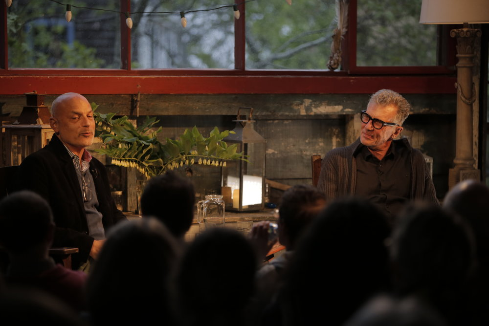 Michael Cunningham and Daniel Mendelsohn, May 2018