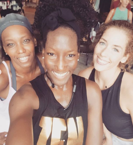 Post class glow with my Memphis tribe at Lululemon Saddle Creek