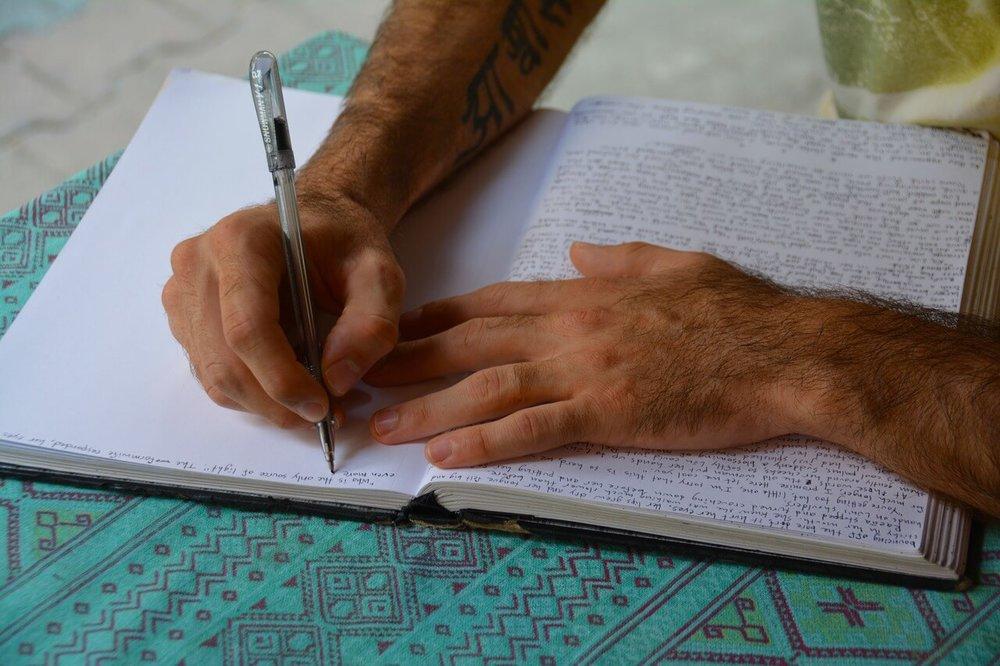 hands-writing