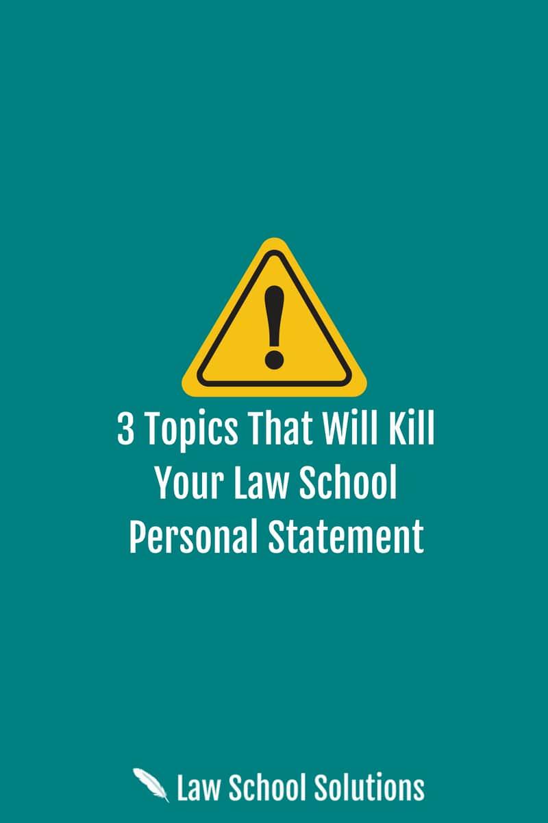 3 Topics That Will Kill Your Law School