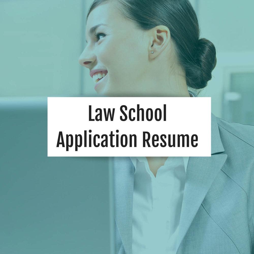 law-school-application-resume