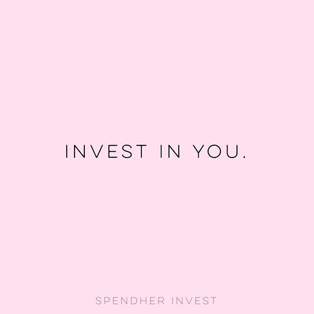 Happy Monday 💖 investing in yourself isn't just a money thing. How do you invest your time? It's precious and so are you 💋💕 #investinyourself #spendher #love