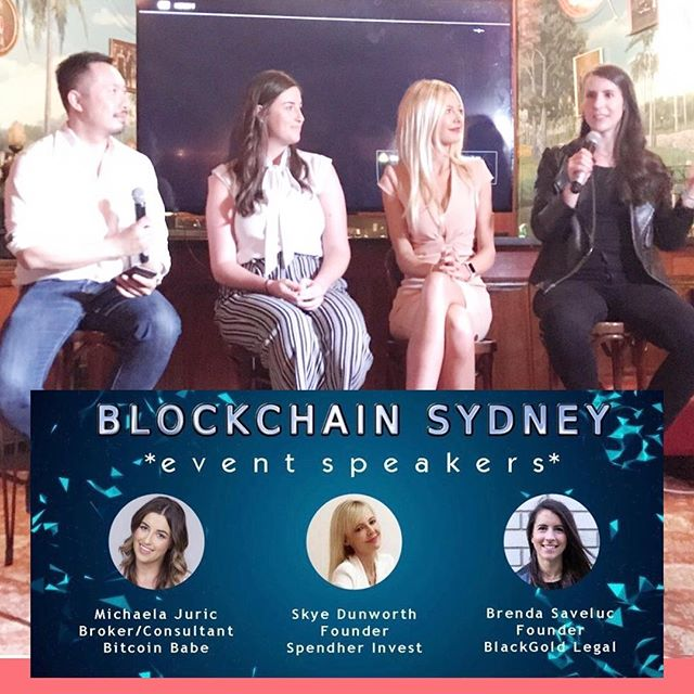 Thanks Tai Tran and the Blockchain Sydney team for an awesome night last night. It was great to talk mass adoption, regulation, and debate all things crypto. The audience put us to the test, thanks to those that came along I love a curve ball! Thanks to my other leading ladies, Michaela Juric and Brenda Saveluc for being brilliant at what they do  #blockchain #finance #crypto #ethereum #investments #bitcoin #spendher #investinyourself