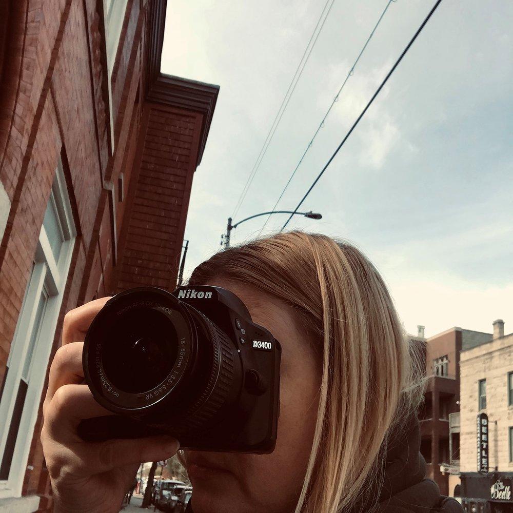 Urszula takes picture