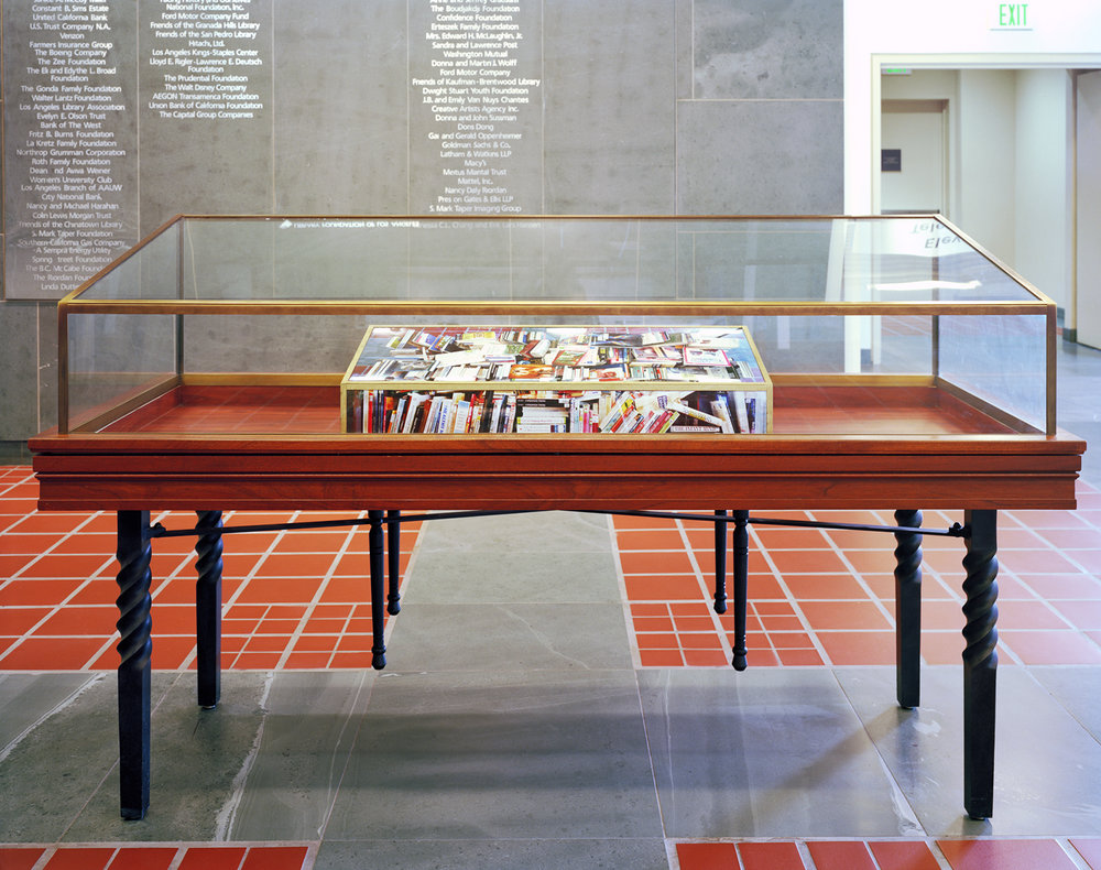 Paper Surrogate, Public Project ,  Los Angeles Central Library , 2010 Wood, acrylic paint, and photographs      ————