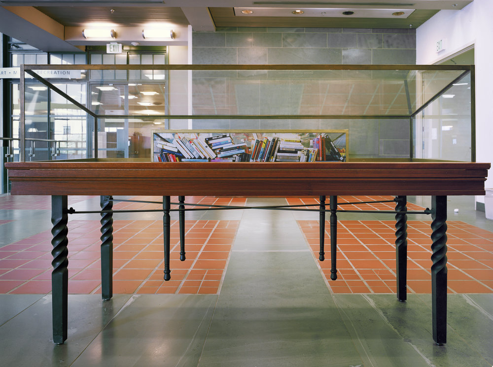 Paper Surrogate, Public Project ,  Los Angeles Central Library  (Rear View), 2010 Wood, acrylic paint, and photographs      ————