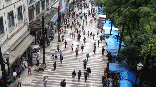 B.Active streetscape - A streetscape with restaurants and engaging shops becomes a part of the public space and contributes to a sense of safety at all times of the day and night.