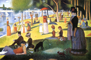 A Sunday Afternoon on the Island of La Grande Jatte  by George Seurats