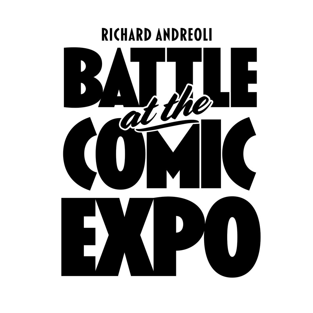 Battle at the Comic Expo book cover logo