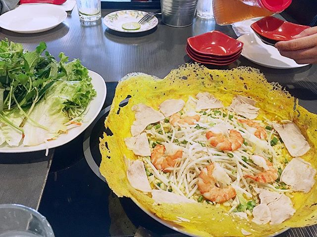 Santa Clara has some of the best authentic Vietnamese food in the Bay Area. Banh xeo, crispy pancake #yum -#authentic #vietnamesefood #bayarea #santaclara