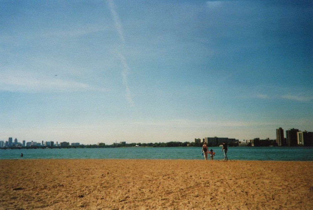 The nearby Belle Isle Beach.