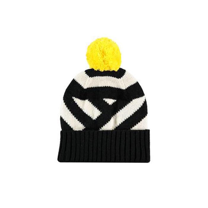 23f796a286b73 Miss Pompom Black Stripe Beanie Hat — FORM SE15