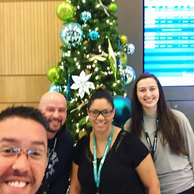 Big thank you to the @westjet crew and the Bill's General Cleaning crew along with our Airport Authority staff for coming together to decorate the airport today! Happy Holidays to all! #YMM #YMMairport #HappyHolidays #Christmas #christmastree